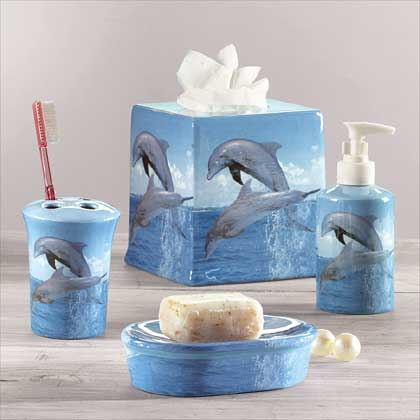 gifts for the fisherman quot dolphin bathroom set quot